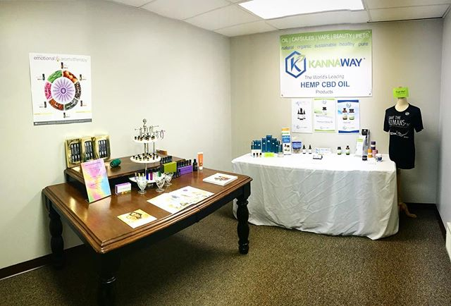 Stop my our mini shop while you are in for your appointment! We have @doterra essential oils, @wearekannaway CBD oil, and crystals. #reikimaster #medium #psychic #essentialoils #cbd