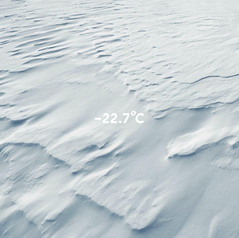 """Molécule """"-22.7°C"""" (2018)  Présenté par l'artiste Jardin des Tuileries (lever du soleil)"""