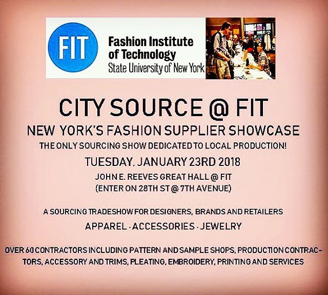 In #NYC on this #rainytuesday? Come in out of the rain and visit us @ #citysource @ FIT! Come see all that @newyorkbindingco can do for you and find other local suppliers for all your #textile #textilesourcing #apparelmanufacturing #designing needs!