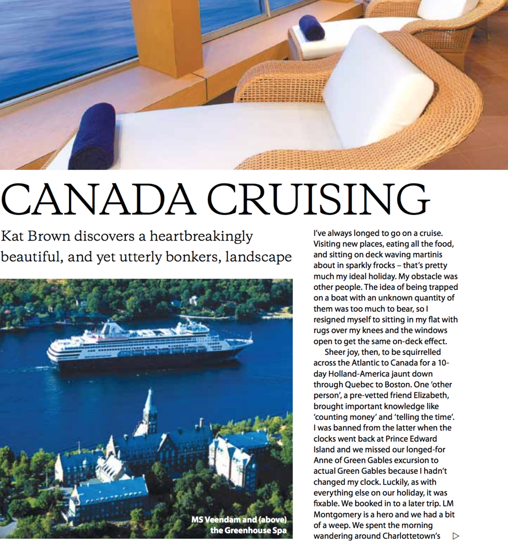 Canada Cruising - The Lady (Best First Time Cruise Feature winner)