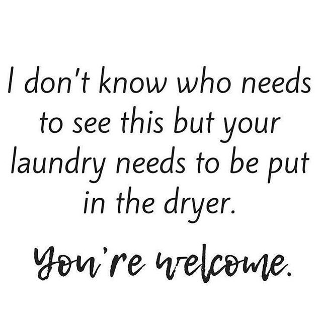 Never feel guilty for the re-wash or the extra fluff for the 5th time in the dryer😂🙌🏼 . . . #mombrain #familyof5 #ihatelaundry