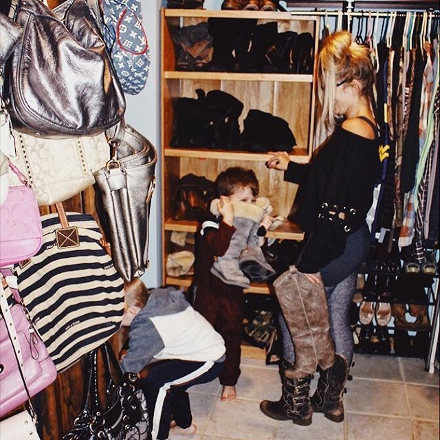 This is what #boymomlife is like! One kid hugging your boot (ok ok sniffing your shoe) the other one hiding superheroes in your dresses! 😂 ⠀⠀⠀⠀⠀⠀⠀⠀⠀ All day yesterday I started thinking of other women and how the topic always comes up on how we start to lose ourselves in our everyday chaos. We start to forget what we once liked/loved and of course for the best reason why... obviously. 😊️ But still, that feeling of being lost, overwhelmed, our tanks are running on empty and we just start doing the motions of life vs enjoy them. ⠀⠀⠀⠀⠀⠀⠀⠀⠀ . .  I don't know about you all but I don't want to give my kids what's left of me! I want to give my kids the BEST of ME! I want to be the mom sliding down slides, diving head first into the ball pit and I definitely want to outrun all of my kids at least until they are all over the age of 10! #littleshits 😂 ⠀⠀⠀⠀⠀⠀⠀⠀⠀ .  I knew I wanted to create a COMMIT to YOU challenge for all the mommas out there! A challenge where we learn to fill our tanks up again, reduce stress & anxiety, connect with other women in the same stage of life as us...because girl you are not alone and I thought I'd put a fun spin on it and do a BOOT giveaway (my other love😂👢) for the momma that shows up the most for herself! ⠀⠀⠀⠀⠀⠀⠀⠀⠀ . .  So...If you're ready to commit to you: workout from home, learn healthier choices and do it with a virtual community behind you annnnd have a chance to win a free pair of boots then drop your favorite emoji below OR fill out the link in my bio and I'll send you the details! 💝👢 . . . . ⠀⠀⠀⠀⠀⠀⠀⠀⠀ #boots #bootlover #bootseason #modernvintage #modernvintageboutique #limelush #ohheymomma #boymom #momof3 #postpartum #fashionista #fashionfunn #limelush #committoyourself