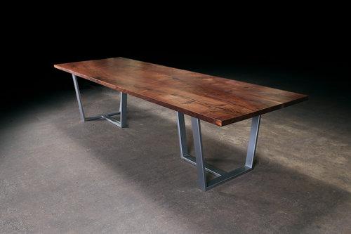 Straight Edge Black Walnut Dining Table Urban Lumber Co