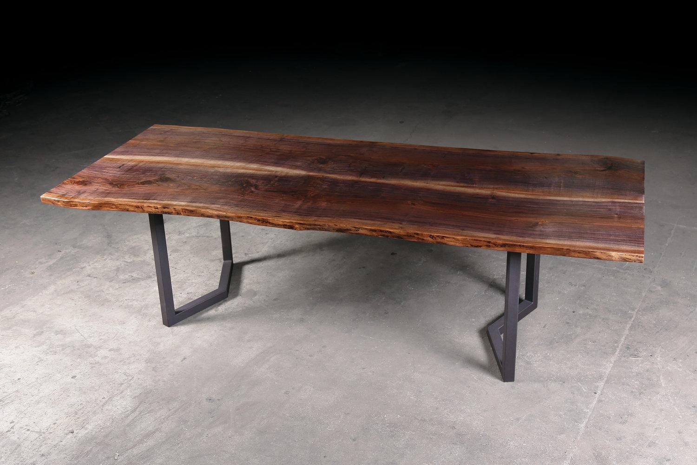Reclaimed Live Edge Walnut Dining Table Urban Lumber Co