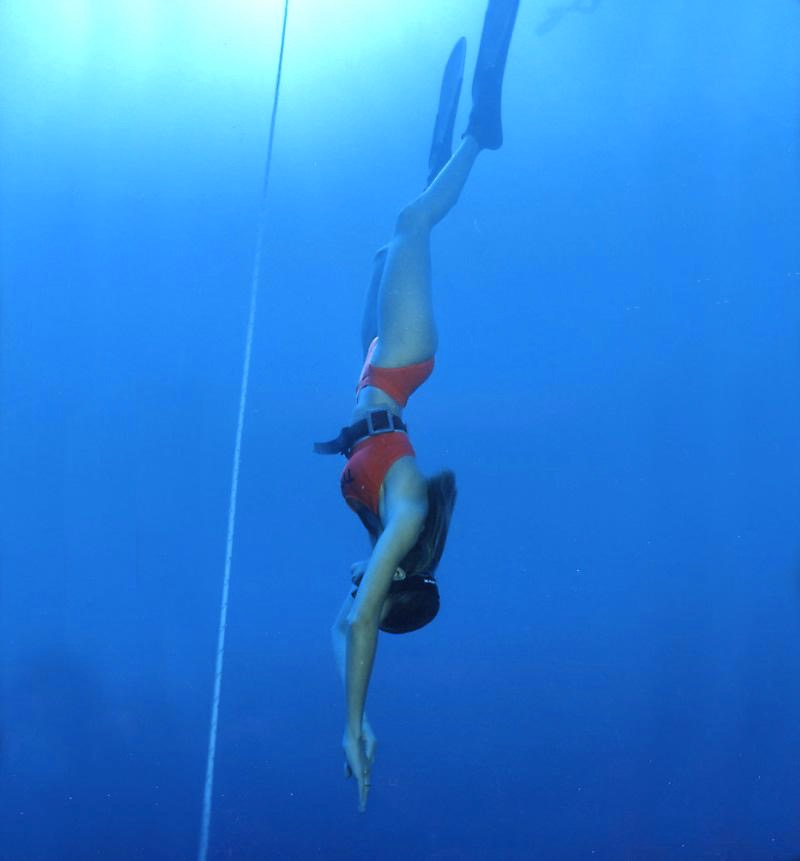 Mehgan Heaney-Grier free diving