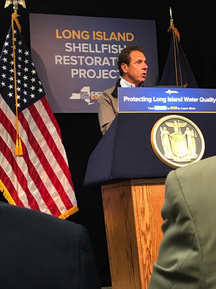 Governor Cuomo announces the LI Shellfish Restoration Project
