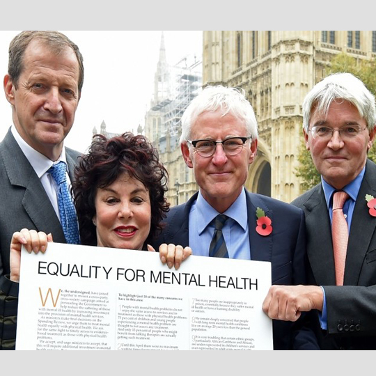 EQUALITY 4 MENTAL HEALTH - Equality 4 Mental Health campaign with over 200 high-profile signatories calling for Mental Health equality