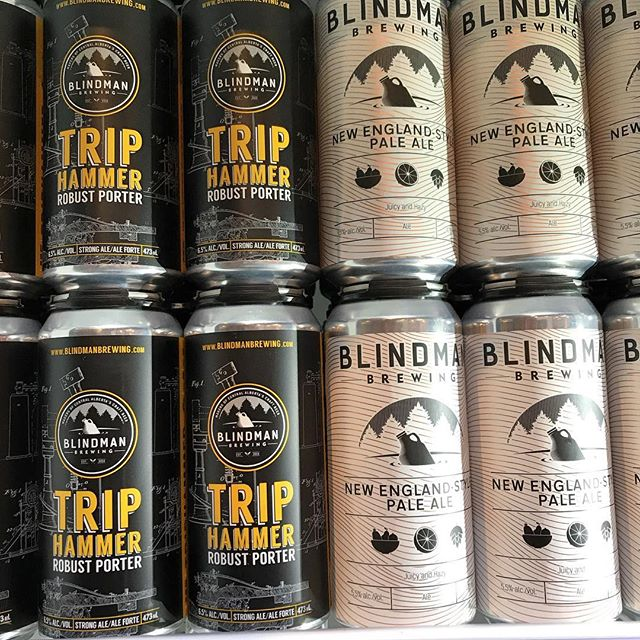 A couple favourites back in stock! Can't go wrong with @blindmanbrewery . #drinklocalalberta