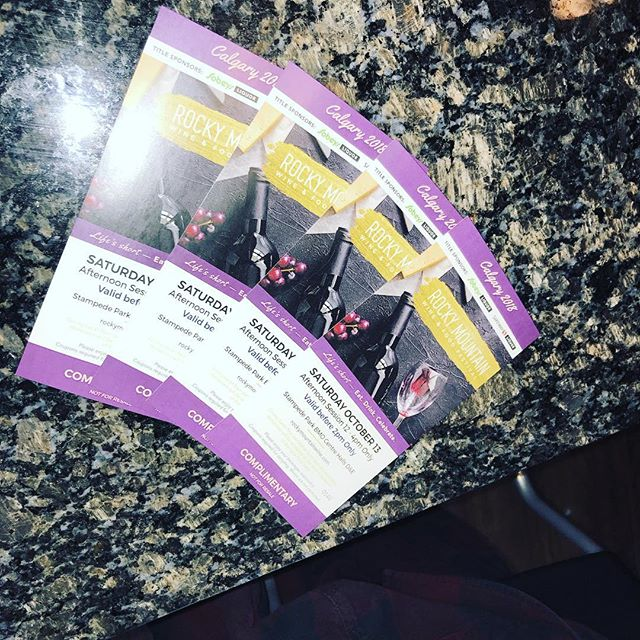 If anyone wants these four tickets for the Rocky Mountain Wine and Food Fest this afternoon please come down and grab them.