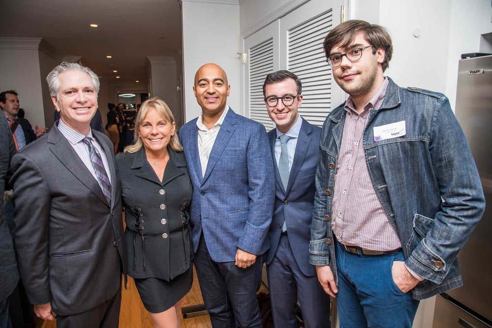 (l-r) Layer3 TV CCO Lindsay Gardner, Lisa Binder, Fmr. FCC Chief of Enforcement Travis LeBlanc, Layer3 TV's Eric Kuhn, and Henry Hoglund at the Future of Television event at the Consumer Technology Association Innovation House on October 25, 2017