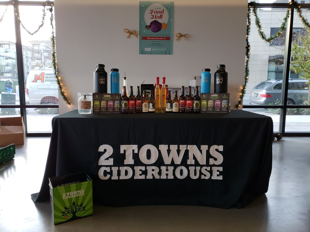 2 Towns Cider brought many of their seasonal ciders, like the super fruity and refreshing Boysenbarrel.