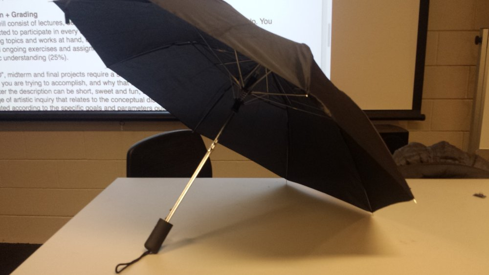 Since this project is in many ways a prototype for my ideas, I wanted something relatively cheap. If I majorly screwed up my parasol, I had an pretty affordable way to get another one.
