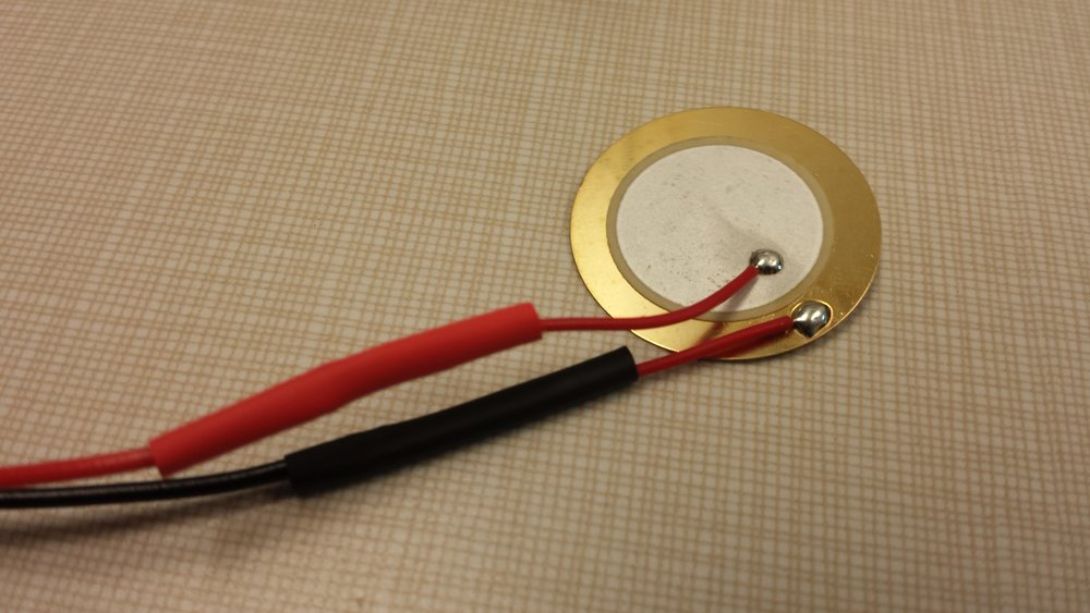The two wires that run to the piezo are incredibly fragile, so reinforcement here was key.