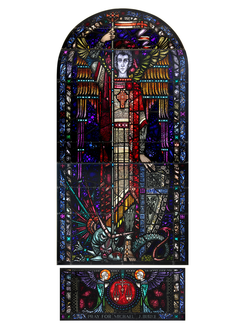 Copy of Restored Window, Sacred Heart Church, Sacramento, CA