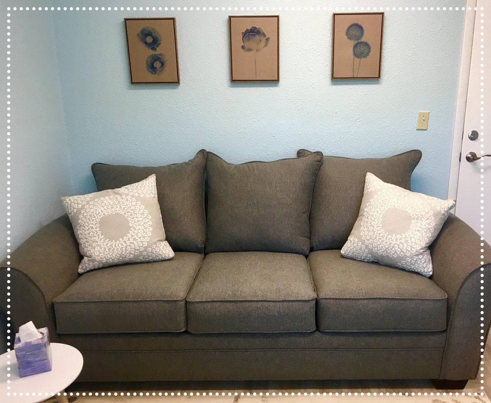 What will therapy look like? - For starters, here is a picture of the cozy therapy couch!Therapy can take a lot of shapes depending on your needs. At the core, I am a person-centered therapist. This means I believe that you are a complete and multifaceted human, an expert on your own life. You don't need anyone to