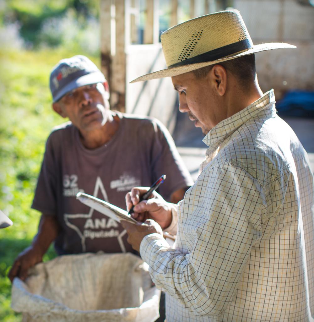 Edgar Sanchez, president of the Cultivadores Del Reino coffee farming cooperative in Honduras.