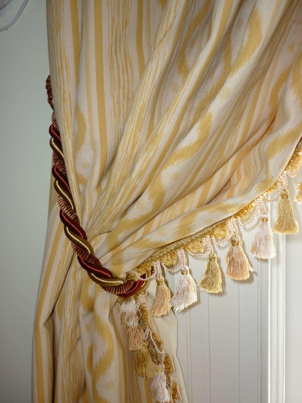 Historic home yellow fabric tassel fringe.jpeg