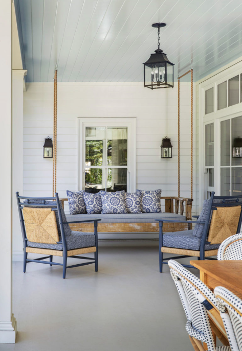 Anne White Interiors Blog | the history behind blue porch ceilings