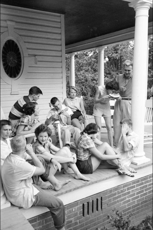 vintage porch sitting