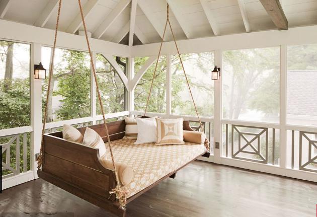 Sleeping porch swing