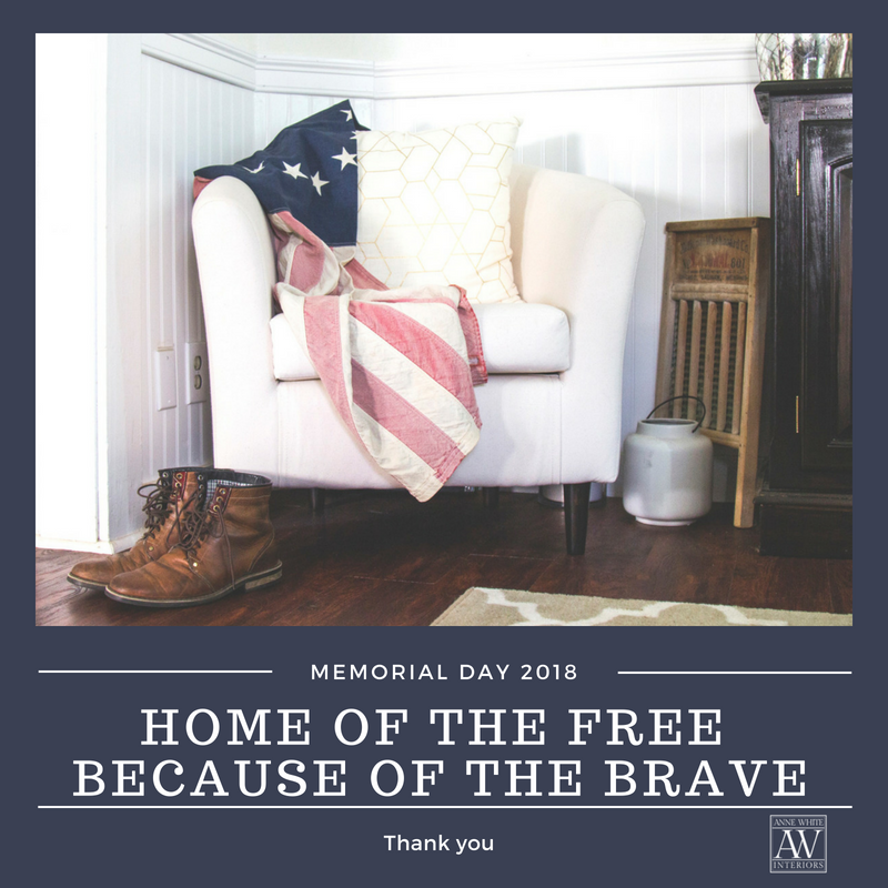 Anne White Interiors Blog | happy memorial day