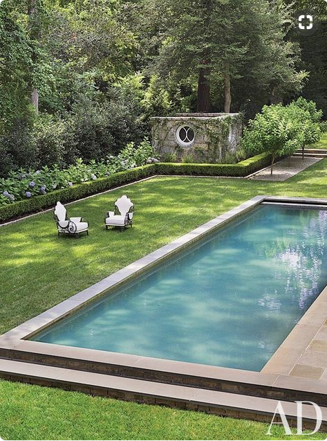 Architectural Digest: Traditional Pool by Suzanne Kasler Interiors and William T. Baker & Associates Ltd. in Atlanta, Georgia