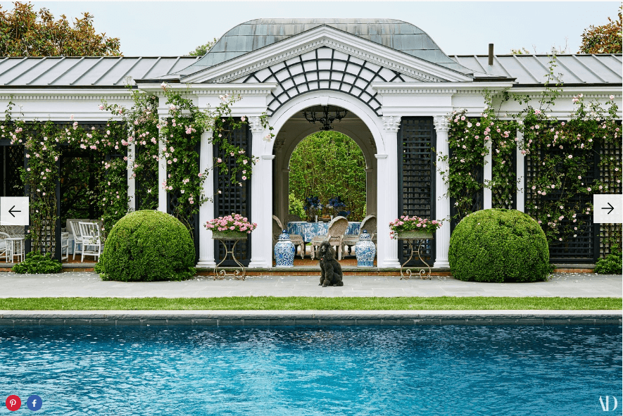 Tory Burch's Southampton pool house   Source