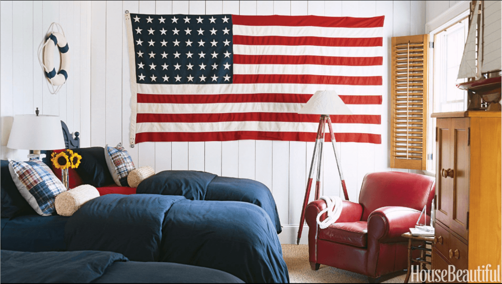 Anne White Interiors Blog | red, white & blue will never go out of style
