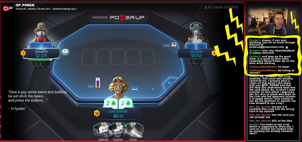 Power Up PokerStars Twitch stream