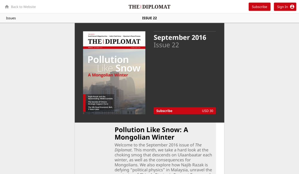 Pollution Like Snow: A Mongolian Winter   The Diplomat
