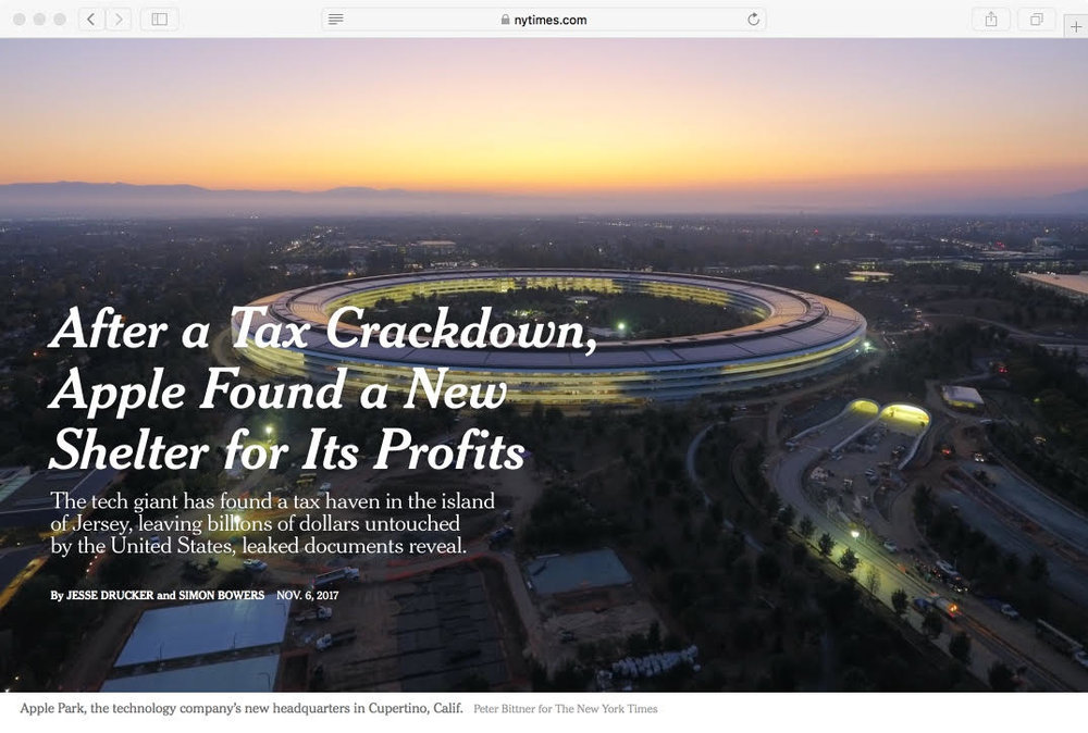 After a Tax Crackdown, Apple Found a New Shelter for Its Profits, Page 1   The New York Times