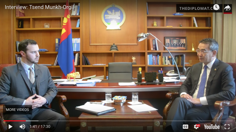 A Conversation with Mongolia's Foreign Minister Tsend Munkh-Orgil   The Diplomat: Editor & On-Camera