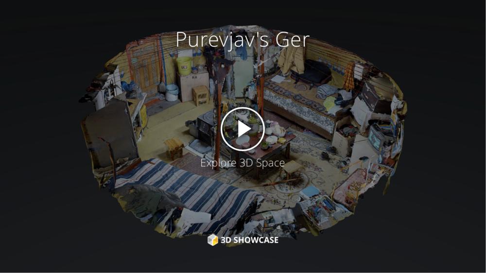 3D Model - Purevjav's Yurt   CityofSmokeProject.com