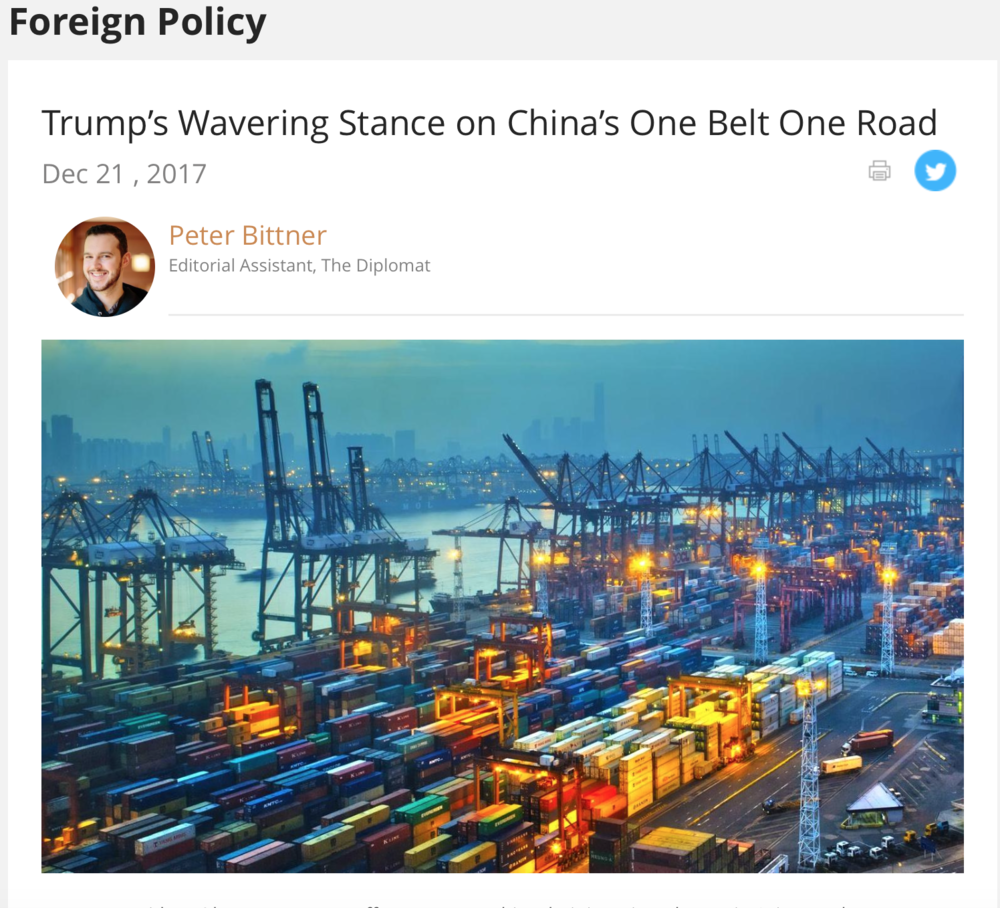 Trump's Wavering Stance on China's One Belt One Road   US-China Focus