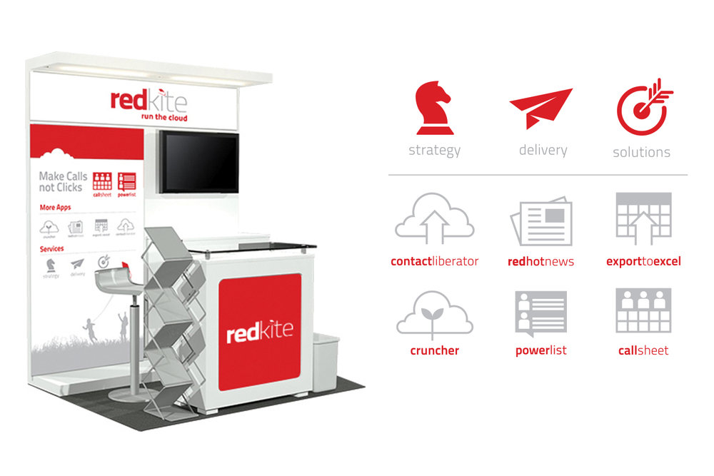 Red Kite, Icons + Infographics, Kiosk