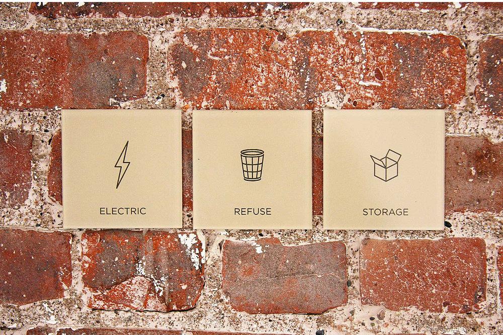 Seward Park, Icons + Infographics, Signage