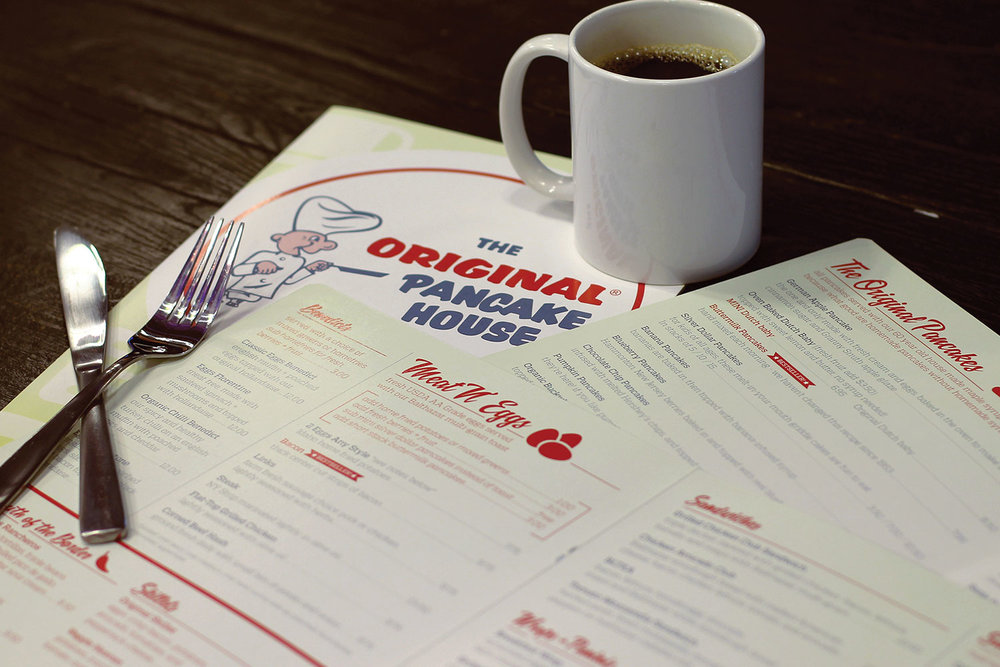 Copy of The Original Pancake House, Print, Menu
