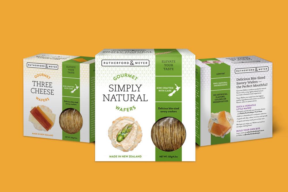 Rutherford & Meyer, Packaging, Gourmet Crackers
