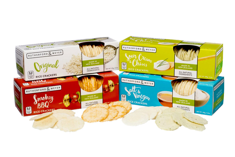 Rutherford & Meyer, Packaging, Rice Crackers