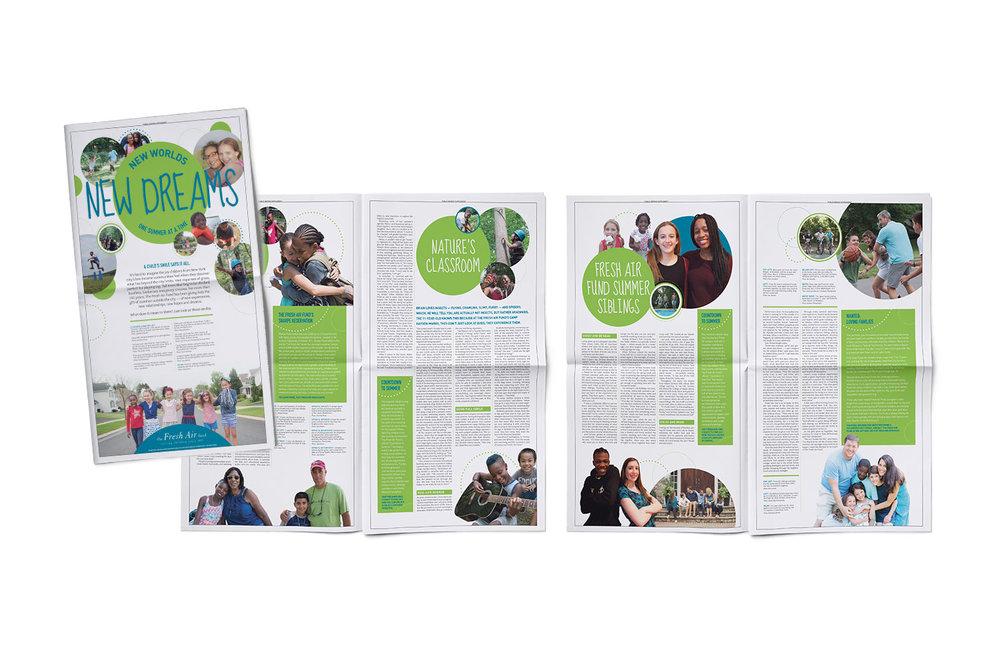 Fresh Air Fund, Print, Newspaper
