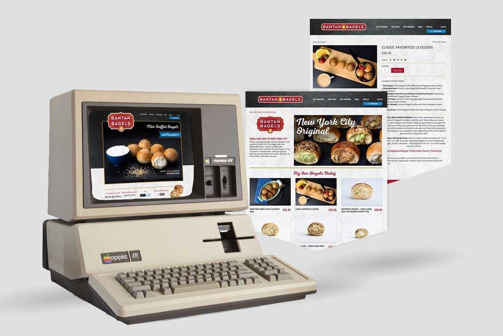 Bantam Bagels, Digital, Web Design, Desktop, Mobile