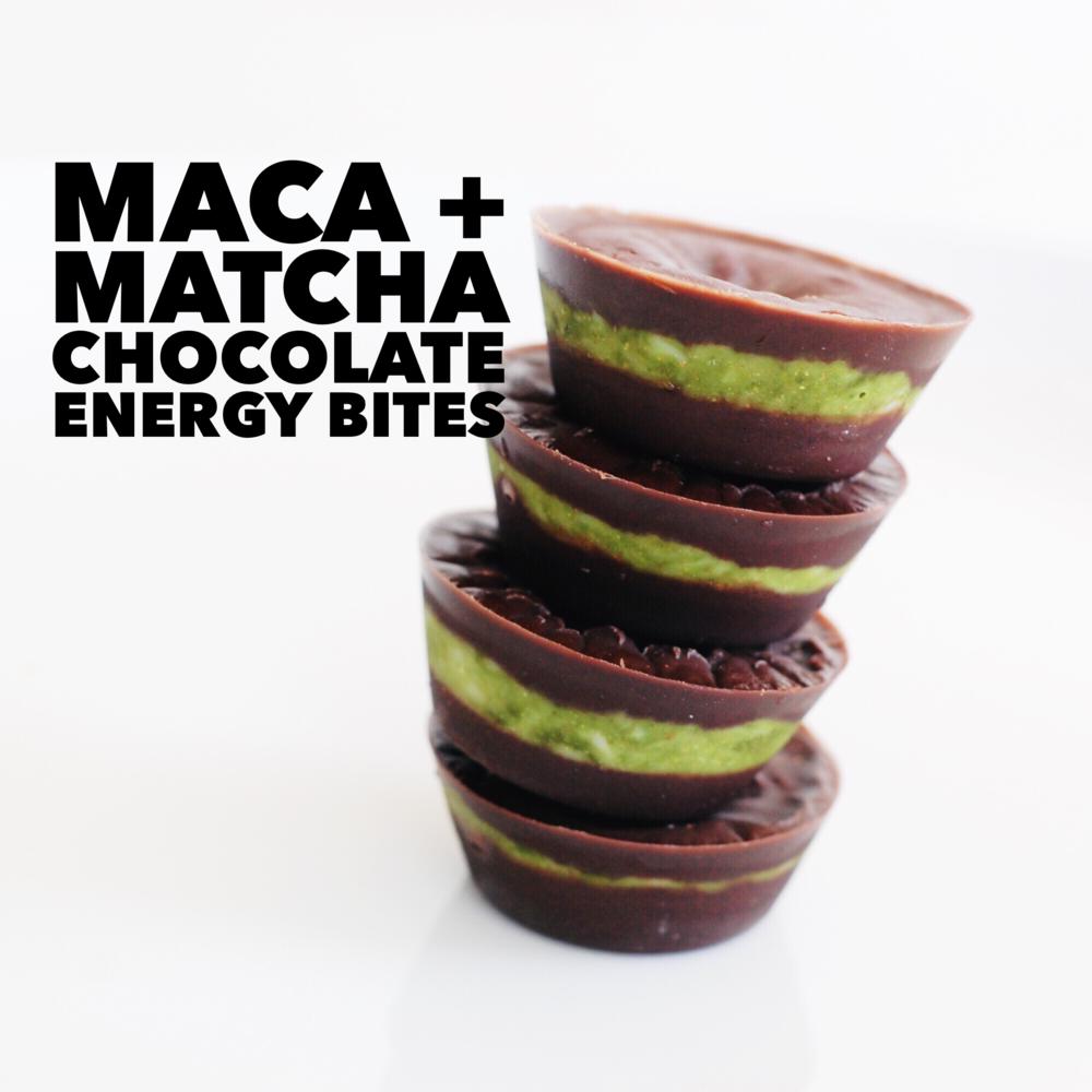 MACA + MATCHA CHOCOLATE ENERGY BITES