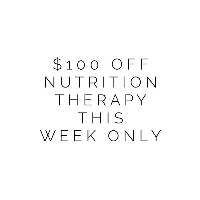 Hello my loves! One of my greatest joys is connecting with you guys on a deeper level through my 1:1 Nutrition Therapy practice. To celebrate how much I love you all & love my life now that I've made this my career, I'm offering $100 off my three and six month packages to anyone who purchases by Friday (only 8 spots are available!). . .  Nutrition Therapy is perfect for anyone struggling to start a healing lifestyle or for those who have tried but had trouble sticking to it. We work on determining where imbalances lie in your body and support you through nutrition, lifestyle changes, and implementing stress management tools. . . Healing doesn't have to be lonely or confusing. I'm here for you! In addition to the bi-weekly meetings included in my packages, you'll have unlimited email access to me M-F for added support. Click the link in my bio to apply to become a client 😘 . . Have you ever worked with a nutritionist? How did it help you? (Sharing my answer in the comments!)