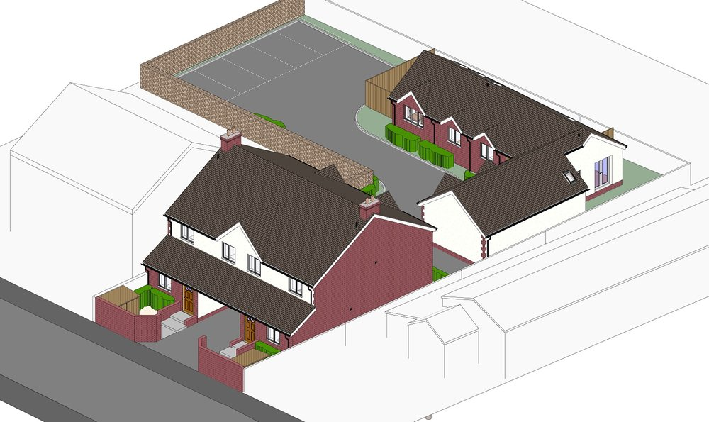 4 NEW FLATS & 2 BUNGALOWS - Weston-super-Mare,Totterdown Road,