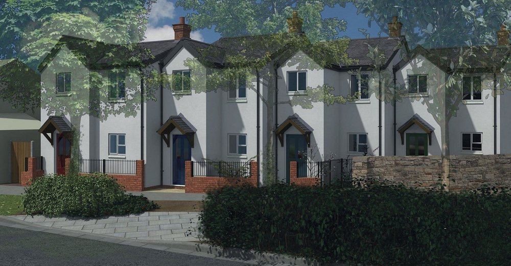 4 NEW COTTAGES IN CONSERVATION AREA - Westbury-on-Trym, High Street