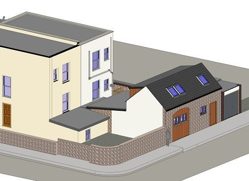 NEW 'COACH HOUSE' DWELLING IN REAR GARDEN - Stapleton, Stapleton Road