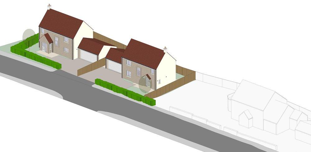 2 NEW DETACHED 4-BED HOUSES - Thornbury, Knapp Road