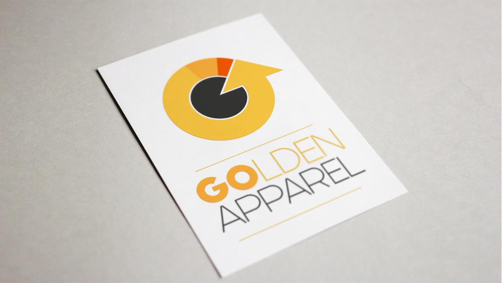 Golden Apparel Logo Design
