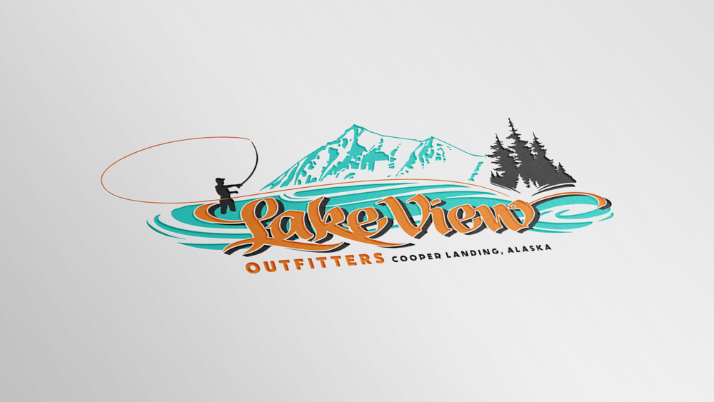 Lake View Outfitters Logo Design