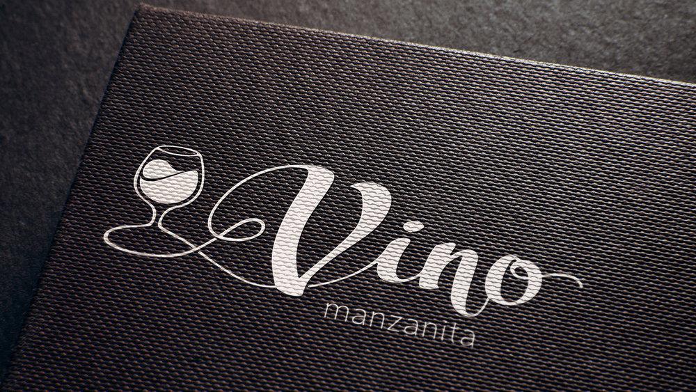Vino Manzanita Logo Design